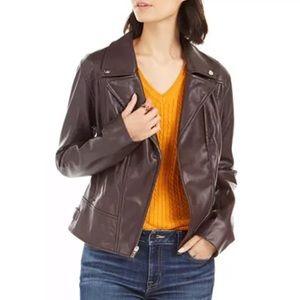 Tommy Hilfiger Faux Leather Moto Jacket
